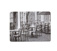 KitchenCraft Café© Cork Back Laminated Set of 4 Placemats
