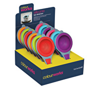 Colourworks Display of Twelve Silicone Tea Strainers