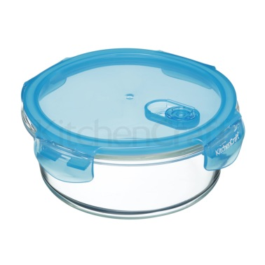 KitchenCraft Pure Seal Glass Round 950ml Storage Container