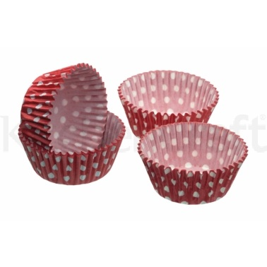 Sweetly Does It Pack of 80 Polka Dot Mini Cake Cases