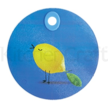 Kitchen Craft Toughened Glass Round Worktop Protector - Birds