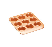 MasterClass Smart Ceramic 24 x 22 cm Heavy-Duty Stackable Muffin Tin