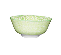 KitchenCraft Green and White Tile Effect Ceramic Bowls