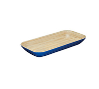 KitchenCraft Santorini Large-Size Bamboo Wood Serving Tray