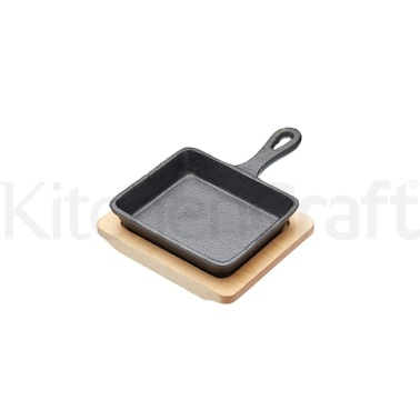Artesà Cast Iron 12.5cm Mini Fry Pan with Board
