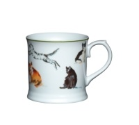 KitchenCraft Fine Porcelain Cats Mug