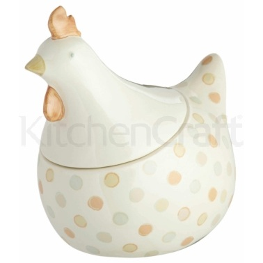Classic Collection Ceramic Chicken Shaped Egg Storage Jar