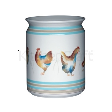 Hen House Ceramic Utensil Jar