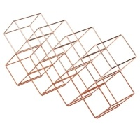 Bar Craft Stackable Copper Finish Wine Rack