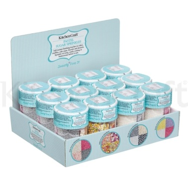 Sweetly Does It Display of 12 Edible Pastels and Shimmers Decorations
