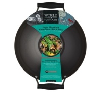 World of Flavours Oriental Double Handled Carbon Steel 30cm Wok