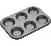 Master Class Non-Stick 6 Hole Shallow Baking Pan