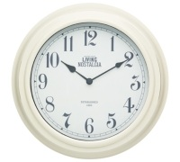 Living Nostalgia Antique Cream Wall Clock
