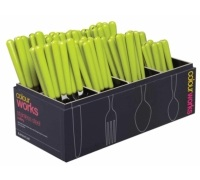 Colourworks 96 Piece Green Cutlery Merchandiser