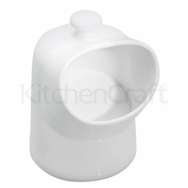 KitchenCraft White Porcelain Salt Pig