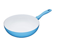 Colourworks Non-Stick Ceramic Induction-Safe Blue Wok