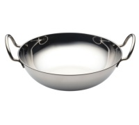 World of Flavours Indian Stainless Steel Large Balti Dish