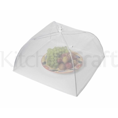 Kitchen Craft 30cm White Umbrella Food Cover