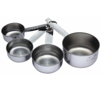 Kitchen Craft Stainless Steel 4 Piece Measuring Cup Set