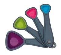 Colourworks 4 Piece Measuring Spoon Set
