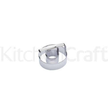 KitchenCraft 8cm Stainless Steel Ring Biscuit and Doughnut Cutter