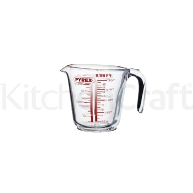 Kitchen Craft Glass 550ml (1 Pint) Measuring Jug