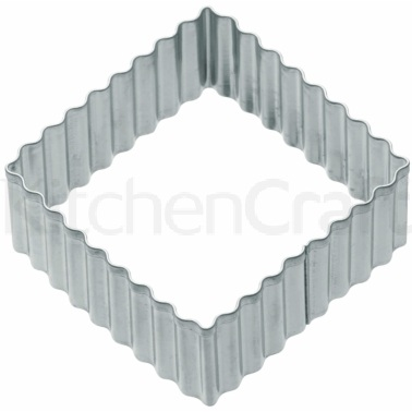 KitchenCraft 6cm Fluted Square Cookie Cutter