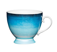 KitchenCraft Set of Four Bone China Ombre Stripe Footed Mugs