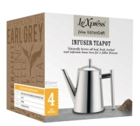 Le'Xpress Stainless Steel 800ml Infuser Teapot