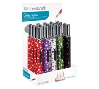 KitchenCraft Display of 20 Polka Patterned Gas Lighters
