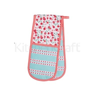 KitchenCraft Ditsy Double Oven Glove