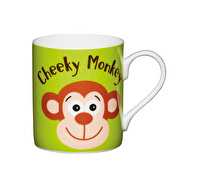 KitchenCraft Set of Four Bone China Cheeky Monkey Mini Mugs