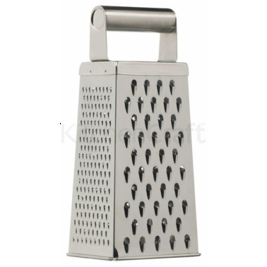 Kitchen Craft Stainless Steel 24cm Deluxe Four Sided Box Grater