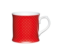 Kitchen Craft Fine Porcelain Red Spotty Mug