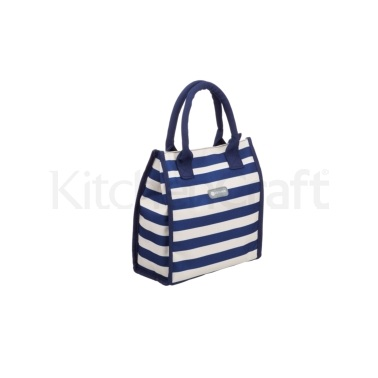 KitchenCraft 4 Litre Blue Stripe Lunch / Snack Cool Bag