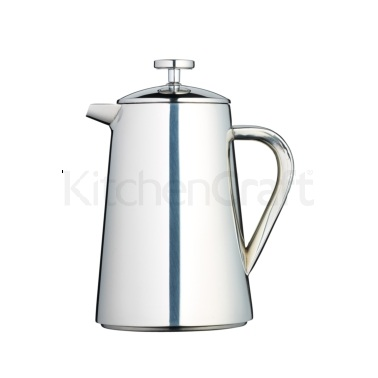 Le'Xpress 1 Litre Stainless Steel Double Walled Insulated Cafetiere
