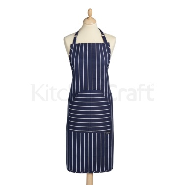 KitchenCraft Blue Butcher's Stripe Apron
