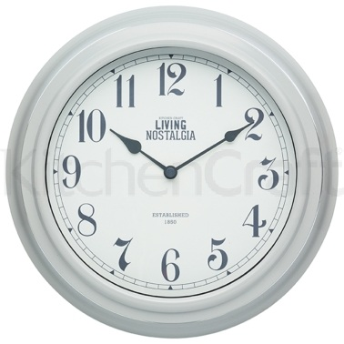 Living Nostalgia French Grey Wall Clock
