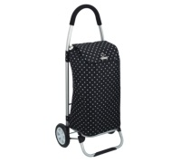 KitchenCraft Black Polka Dot Foldable Shopping Trolley