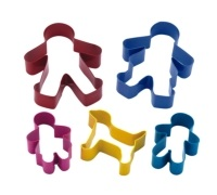 Let's Make Stainless Steel Gingerbread Family Cookie Cutter Set