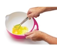 Colourworks Large Pink Melamine Two Tone Mixing Bowl