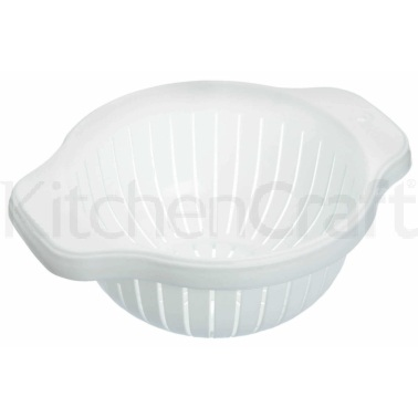 KitchenCraft White 20cm Colander