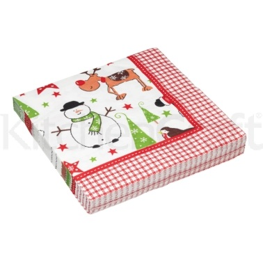 Santa & Friends Paper Napkins