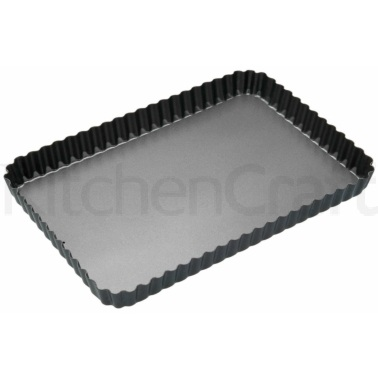 Master Class Non-Stick Loose Base Fluted Rectangular Flan / Quiche