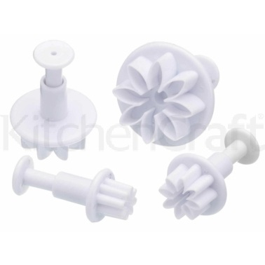 Sweetly Does It Set of 4 Flower Fondant Plunger Cutters