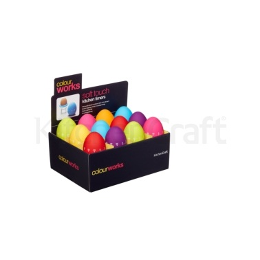 Colourworks Display of 24 Egg Timers