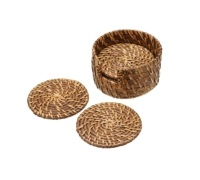 Artesà Set of 6 Bamboo Rattan Coasters