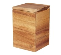 Natural Elements Medium Acacia Wood Storage Canister