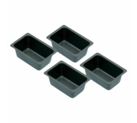 KitchenCraft Set of 4 Non-Stick Mini Loaf Tins