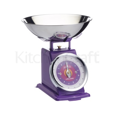 Colourworks Purple 3kg Mechanical Scales